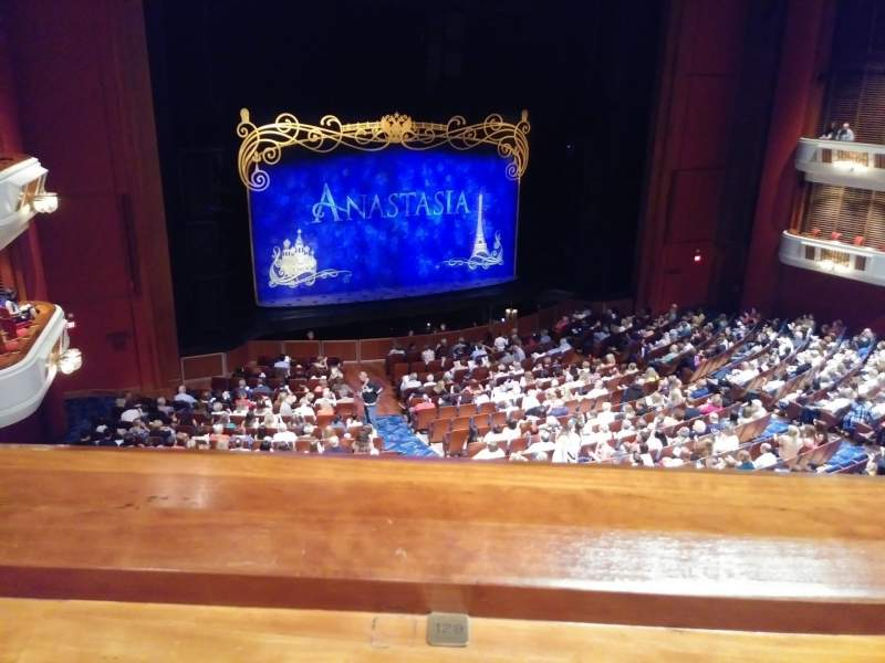 Seating view for Au-Rene Theatre at the Broward Center Section Mezzanine L Row A Seat 129