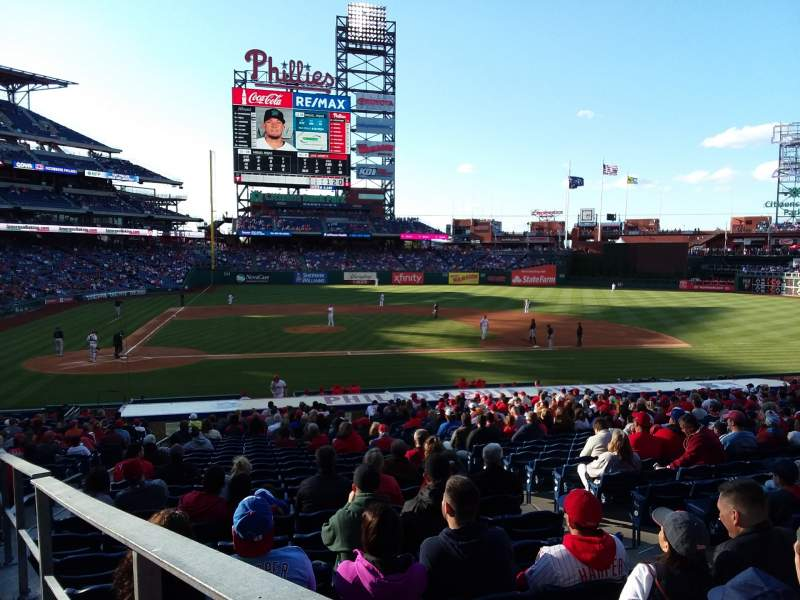Seating view for Citizens Bank Park Section 119 Row 27 Seat 1