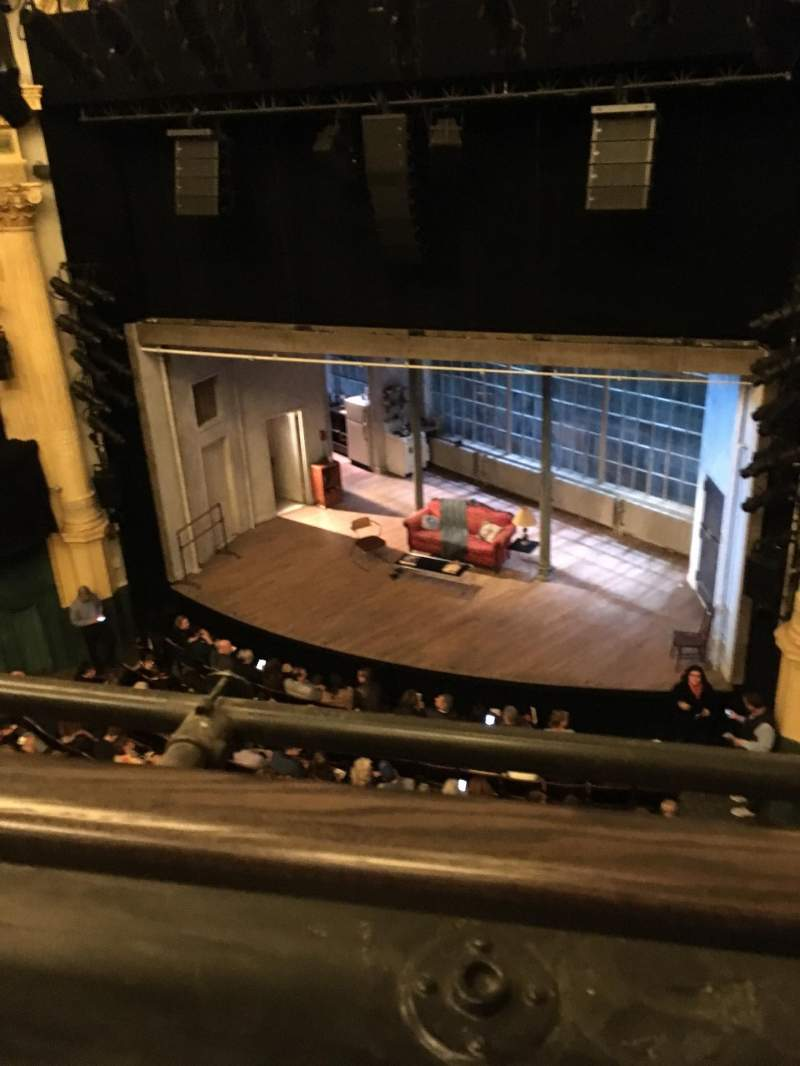 Seating view for Hudson Theatre Section Balcony R Row A Seat 2