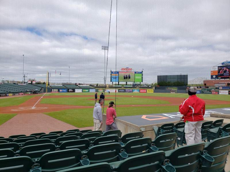Seating view for Louisville Slugger Field Section 112 Row J Seat 5