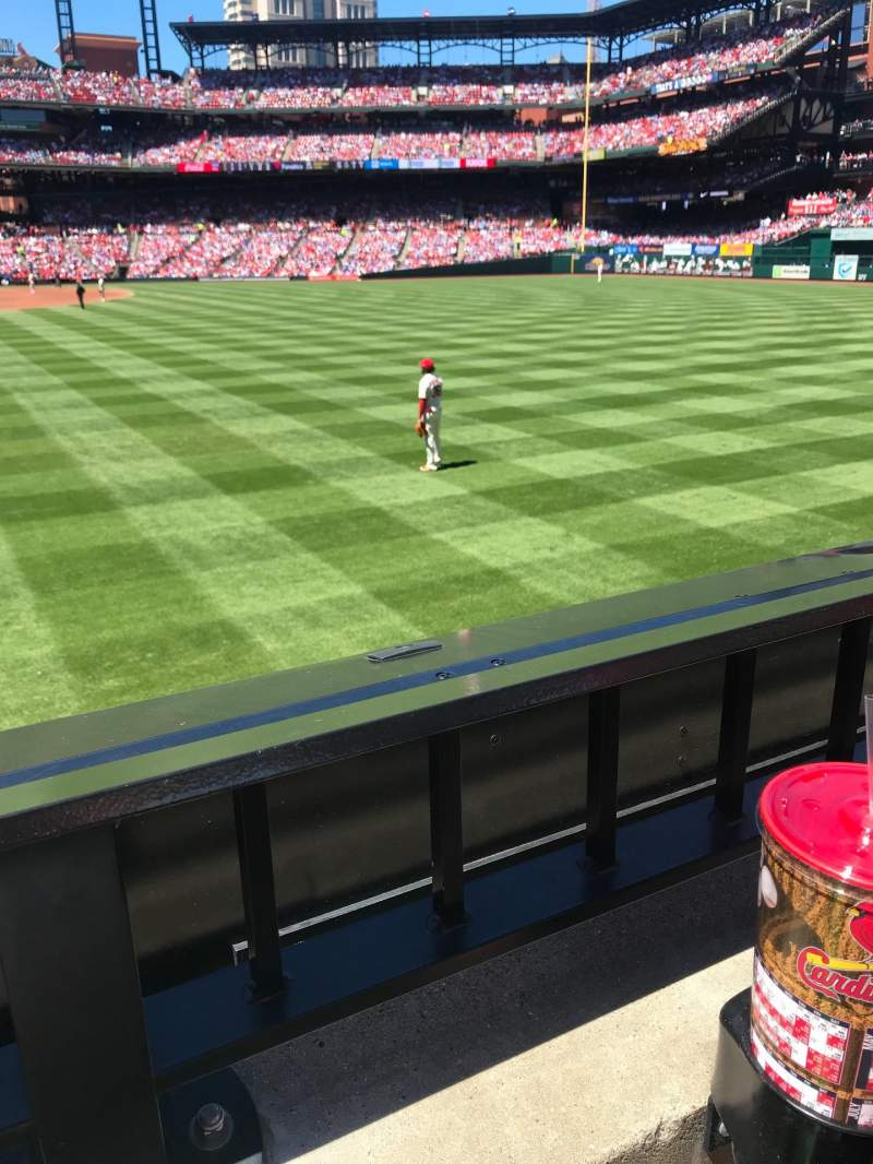 Seating view for Busch Stadium Section 127 Row 1 Seat 14-15
