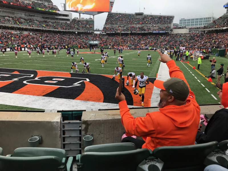 Seating view for Paul Brown Stadium Section 150 Row 3 Seat 7-8
