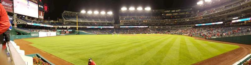 Seating view for Nationals Park Section 103 Row A Seat 1