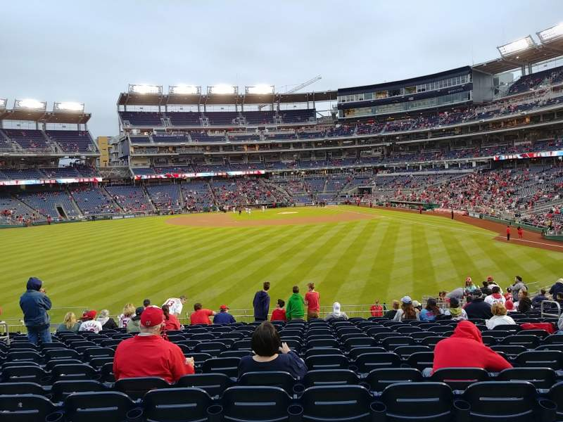 Seating view for Nationals Park Section 102 Row CC Seat 9-10