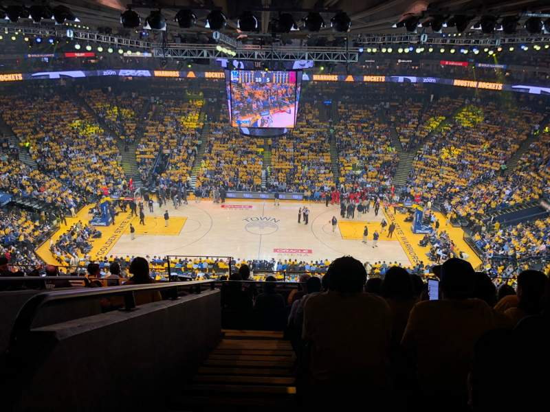 Seating view for Oracle Arena Section 216 Row 10 Seat 17