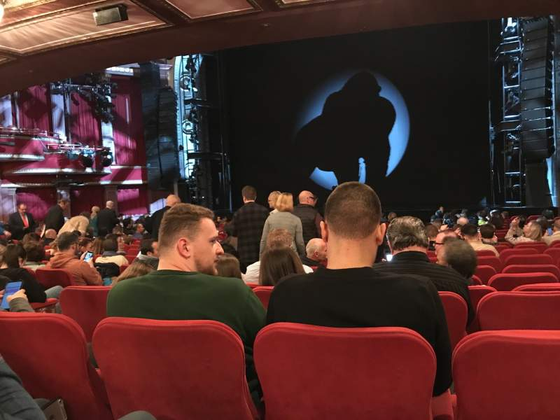 Seating view for Broadway Theatre - 53rd Street Section Orchestra Row T Seat 9