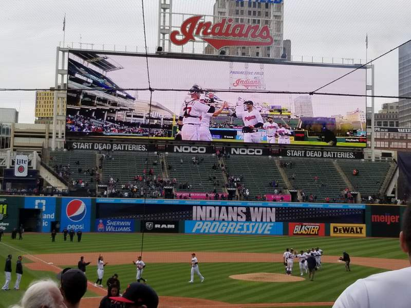 Seating view for Progressive Field Section 151 Row x Seat 5