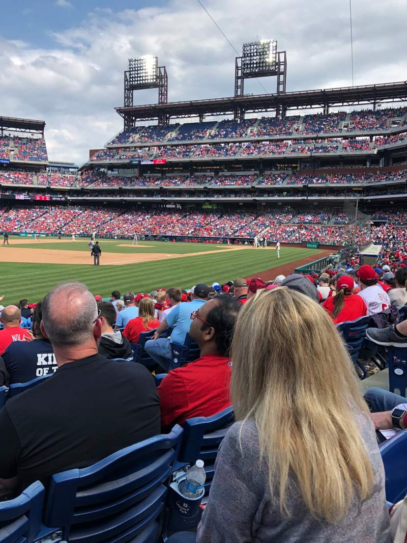 Seating view for Citizens Bank Park Section 136 Row 14 Seat 6