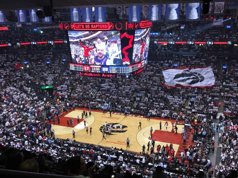Seating view for Scotiabank Arena Section 319 Row 14 Seat 34