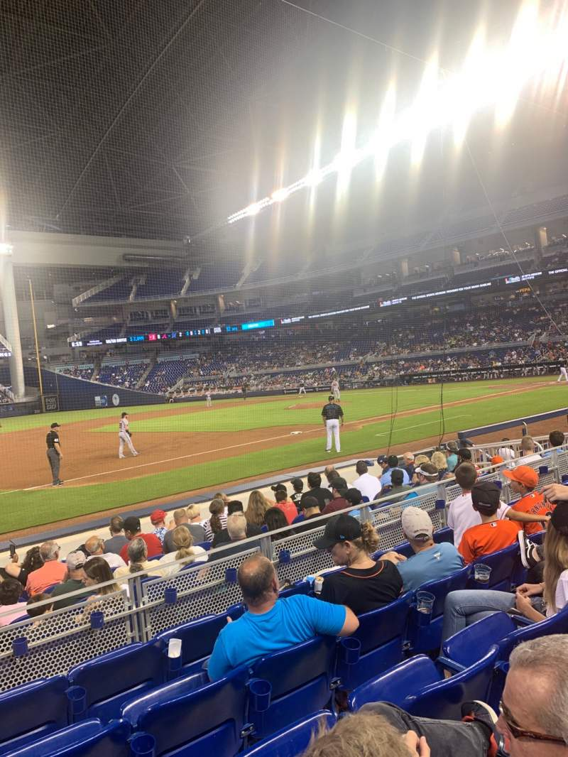 Seating view for Marlins Park Section 22 Row E Seat 17