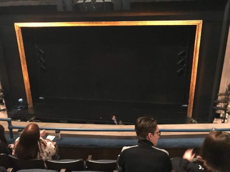 Seating view for Ambassador Theatre Section Front Mezzanine RC Row D  Seat 112