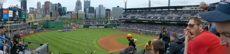 Seating view for PNC Park Section 227 Row F Seat 13