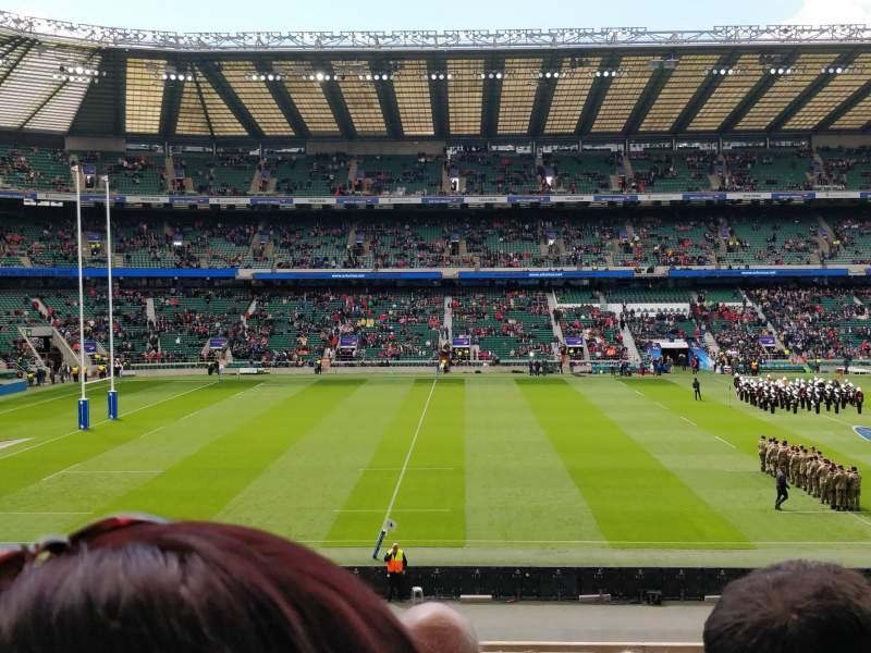 Seating view for Twickenham Stadium Section L27 Row 33 Seat 262