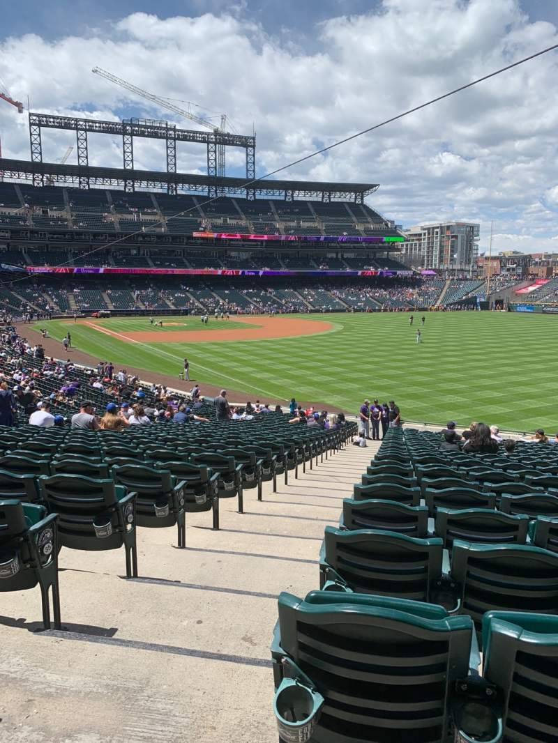 Seating view for Coors Field Section 111 Row 38 Seat 12