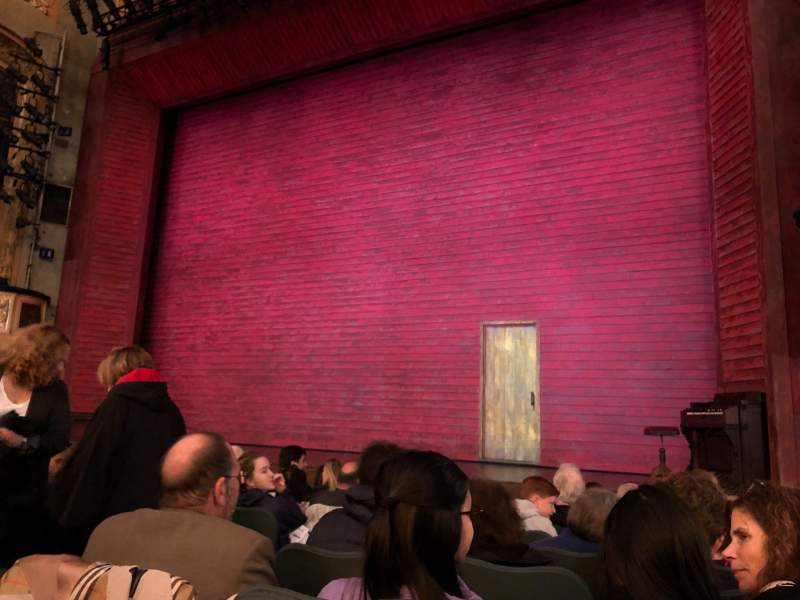 Seating view for Shubert theatre Section Orchestra R Row K Seat 8
