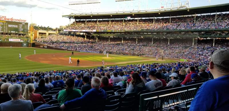 Seating view for Wrigley Field Section 207 Row 2 Seat 22