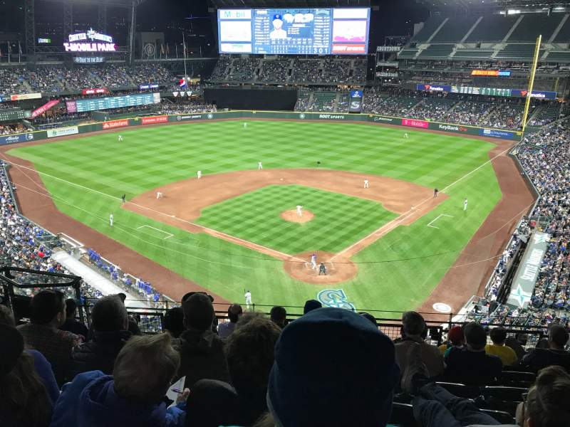 Seating view for T-Mobile Park Section 331 Row 7 Seat 11