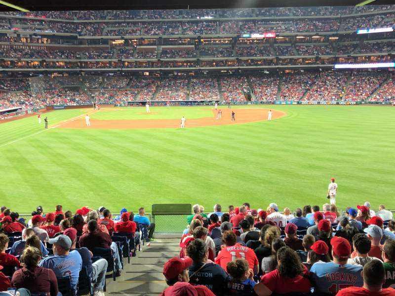 Seating view for Citizens Bank Park Section 104 Row 17 Seat 9