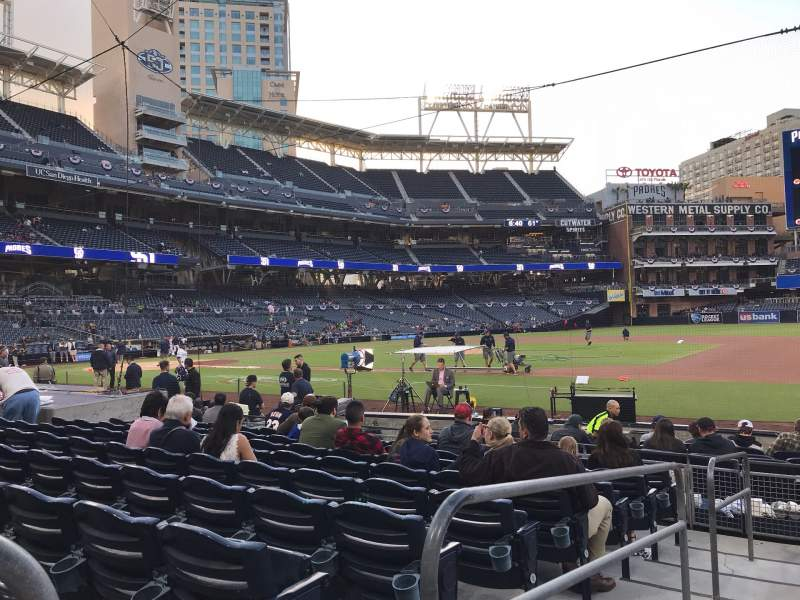 Seating view for PETCO Park Section 111 Row 13 Seat 1
