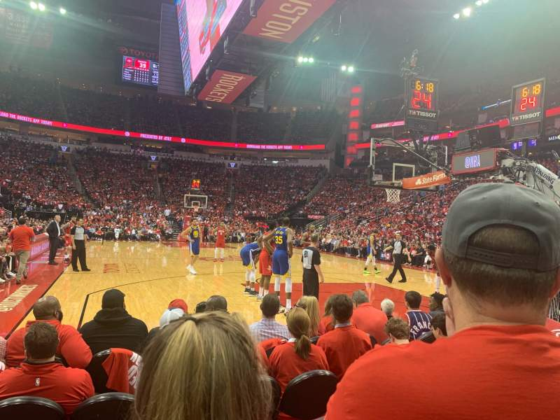 Seating view for Toyota Center Section 114 Row D  Seat 10
