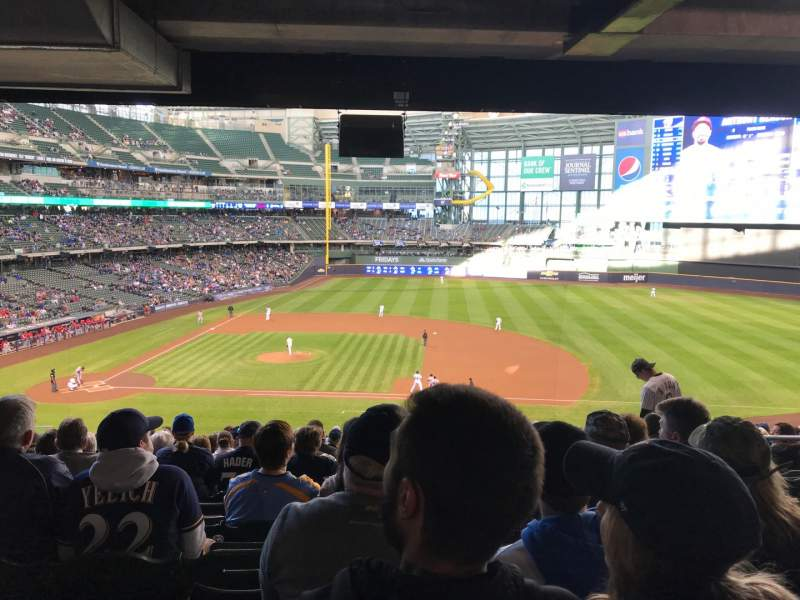 Seating view for Miller Park Section 213 Row 20 Seat 18