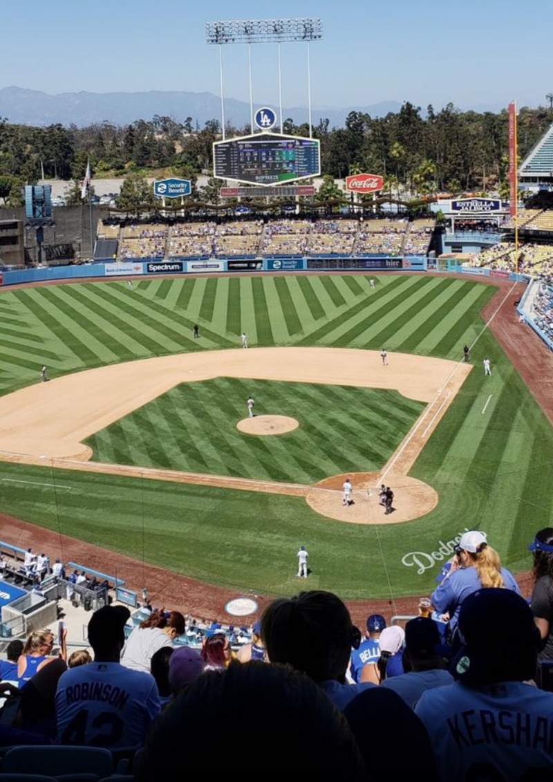Seating view for Dodger Stadium Section 7RS Row W Seat 6