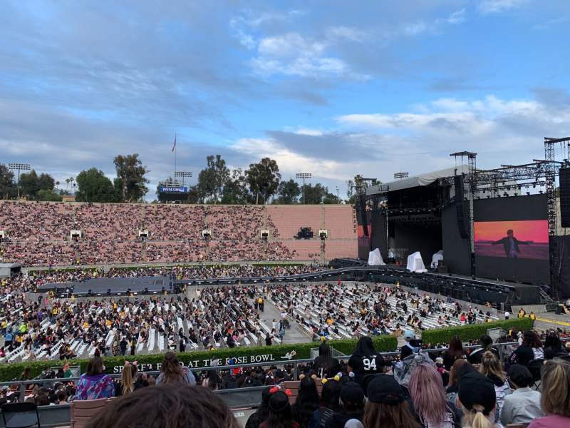 Seating view for Rose Bowl Section 18-H Row 37 Seat 112