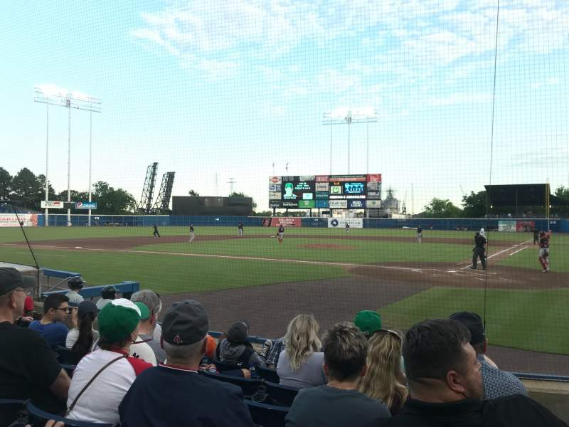 Seating view for Harbor Park Section 103 Row F Seat 1