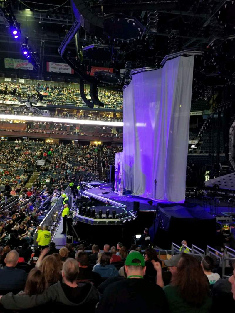 Seating view for Nationwide Arena Section 102 Row N Seat 6