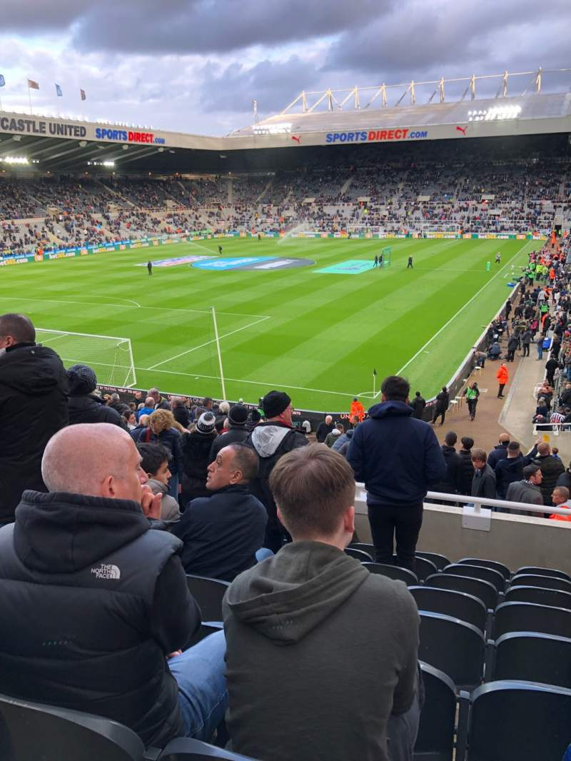 Seating view for St James' Park Section L2d Row H Seat 67