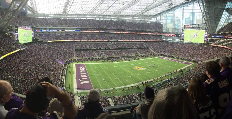 Seating view for U.S. Bank Stadium Section 316 Row C Seat 15