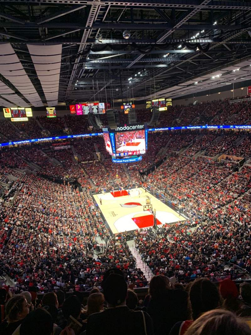 Seating view for Moda Center Section 311 Row G Seat 6