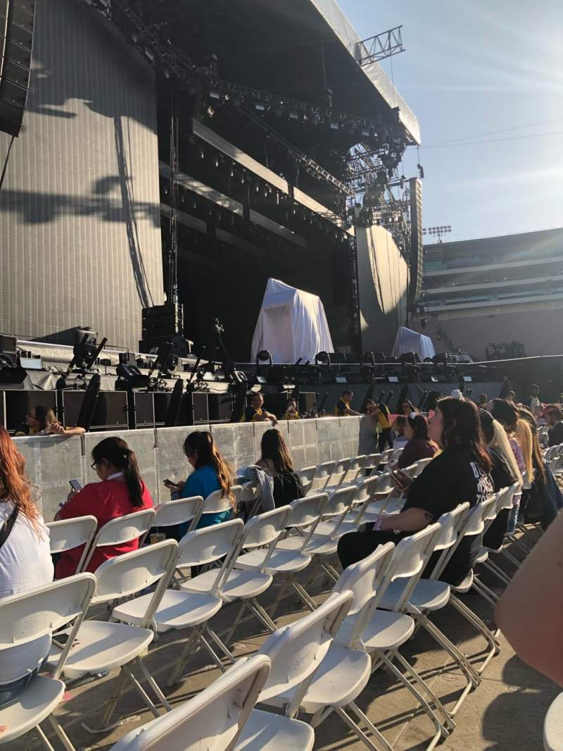 Seating view for Rose Bowl Section A5 Floor Row 4 Seat 34