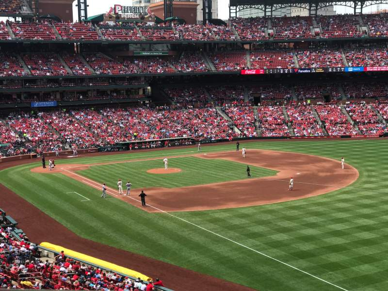 Seating view for Busch Stadium Section 233 Row 1 Seat 2