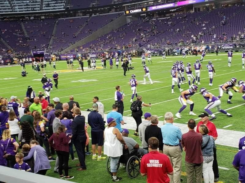 Seating view for U.S. Bank Stadium Section 127 Row 1 Seat 3
