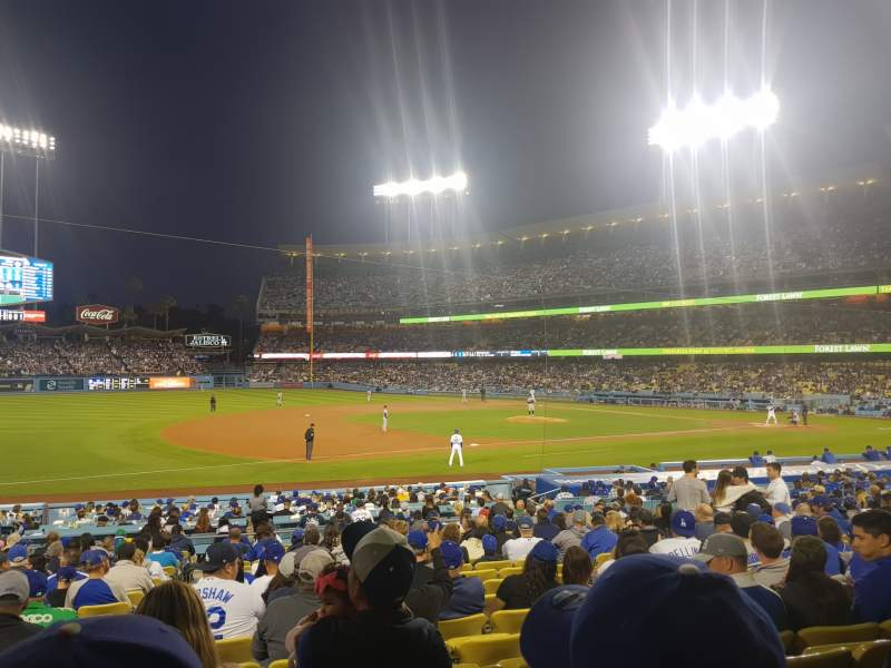 Seating view for Dodger Stadium Section 29FD Row T Seat 5