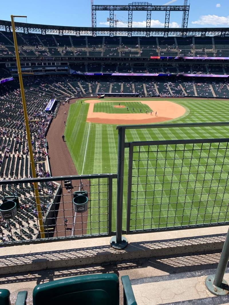 Seating view for Coors Field Section L308 Row 2 Seat 1