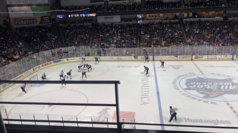 Seating view for Huntington Center Section 207 Row B Seat 17