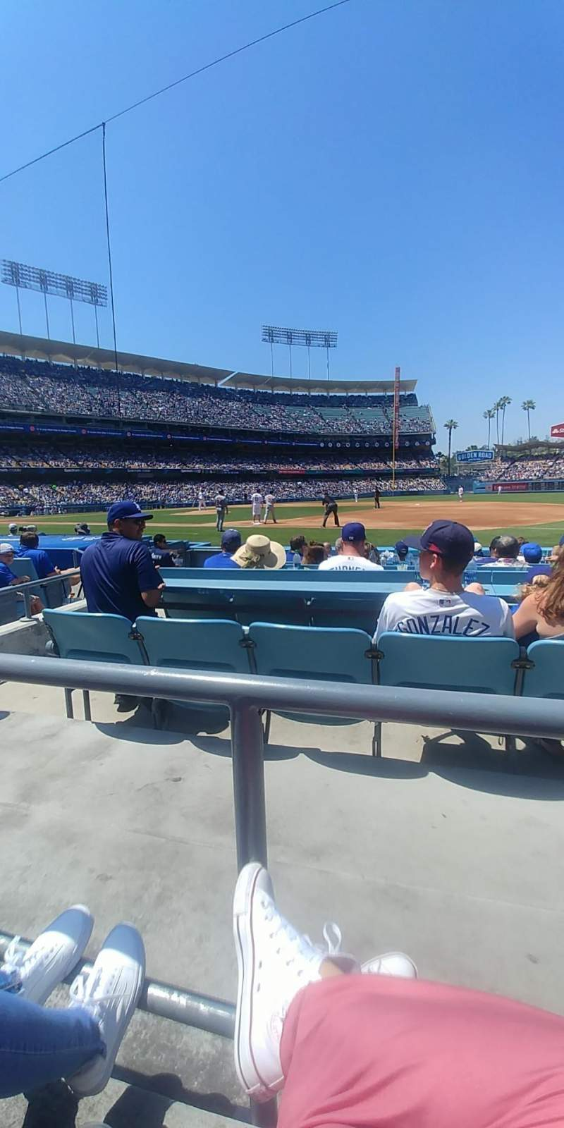Seating view for Dodger Stadium Section 26FD Row A Seat 7,8