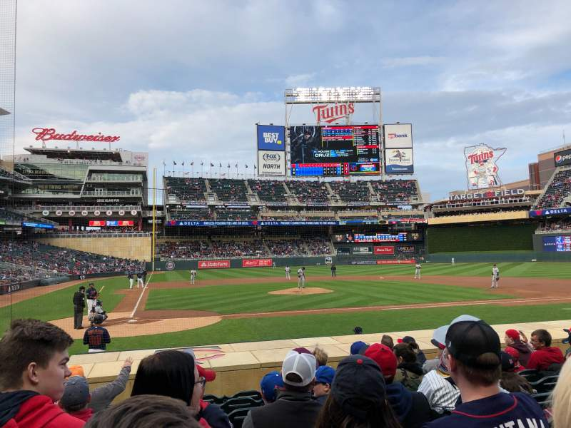 Seating view for Target Field Section 6 Row 12 Seat 11