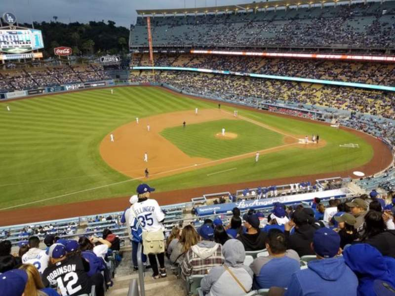 Seating view for Dodger Stadium Section 23RS Row K Seat 13
