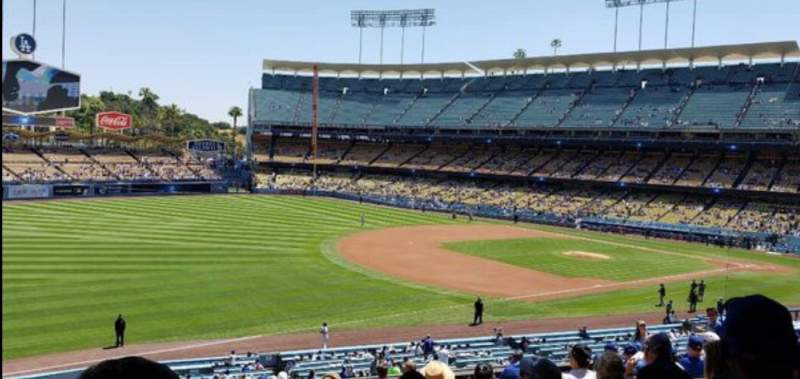 Seating view for Dodger Stadium Section 153LG Row P Seat 2