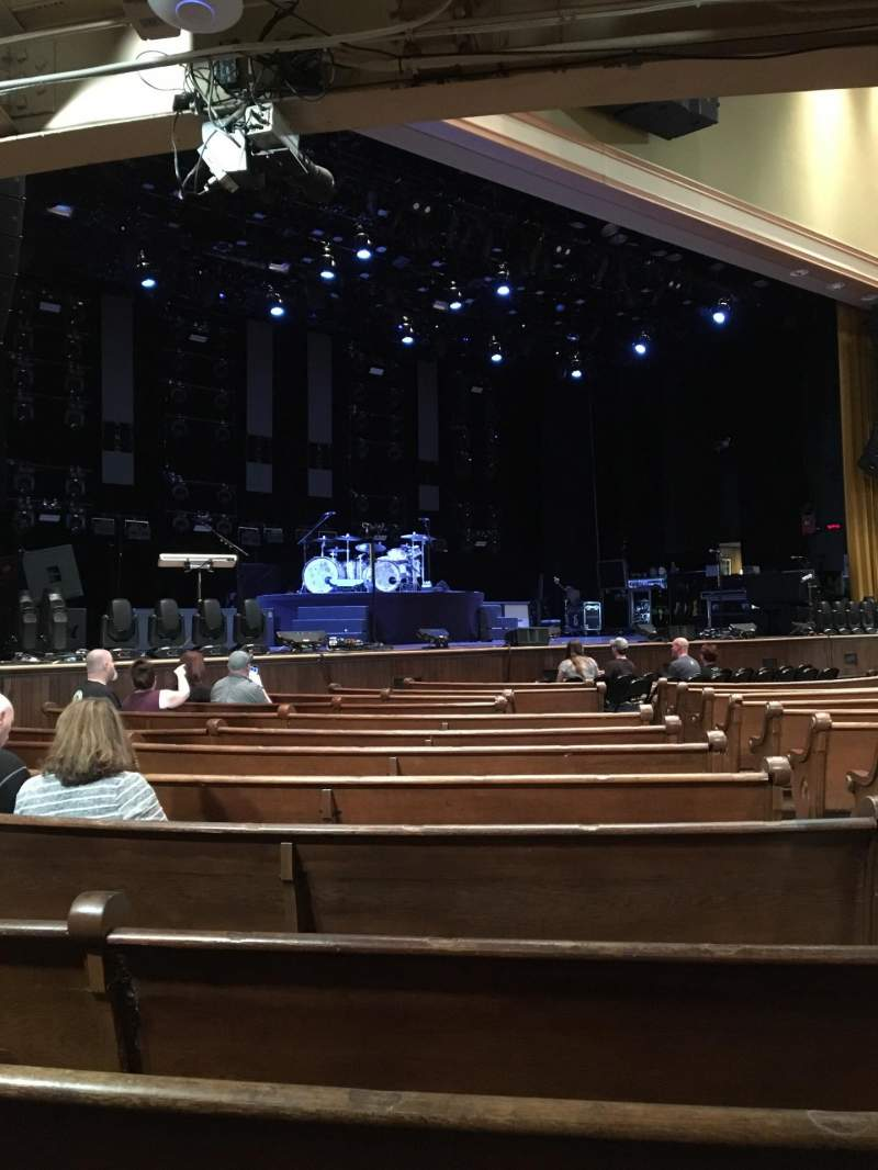 Seating view for Ryman Auditorium Section MF-7 Row P Seat 3