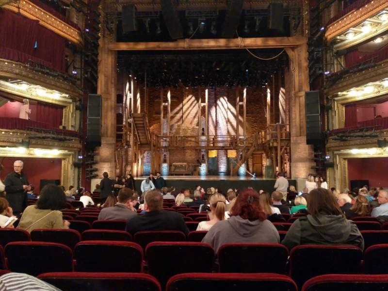 Seating view for CIBC Theatre Section Orchestra C Row U Seat 109