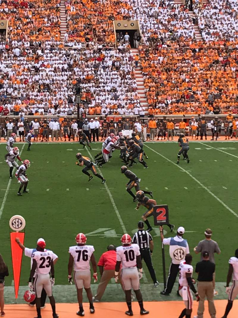 Seating view for Neyland Stadium Section C Row 17 Seat 21