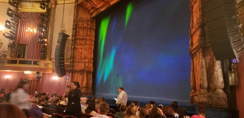 Seating view for St. James Theatre Section Orchestra R Row J Seat 24