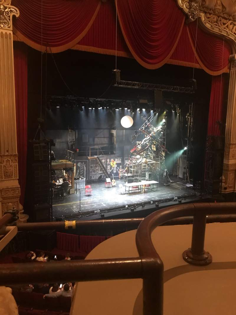 Seating view for Nederlander Theatre (Chicago) Section Loge Row A Seat 353
