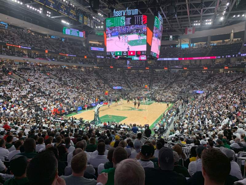 Seating view for Fiserv Forum Section 110 Row 22 Seat 6