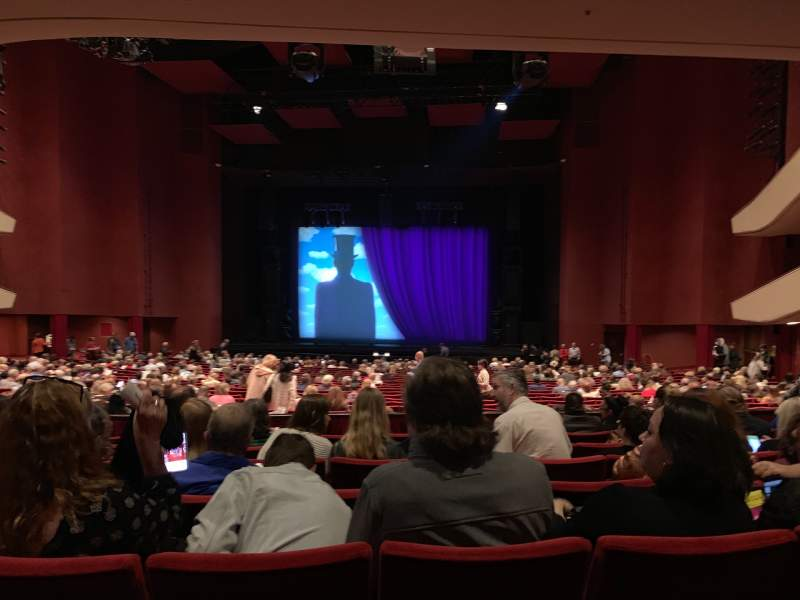 Seating view for San Diego Civic Theatre Section Dress Circle Row G Seat 14