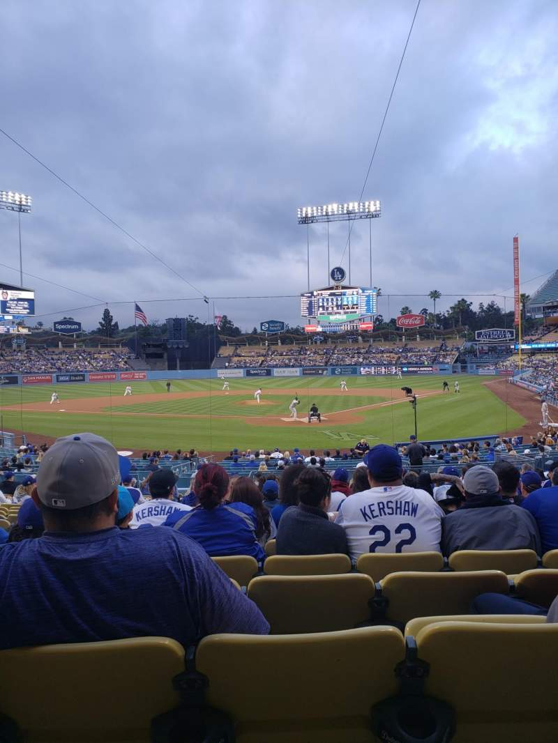 Seating view for Dodger Stadium Section 3FD Row T Seat 9